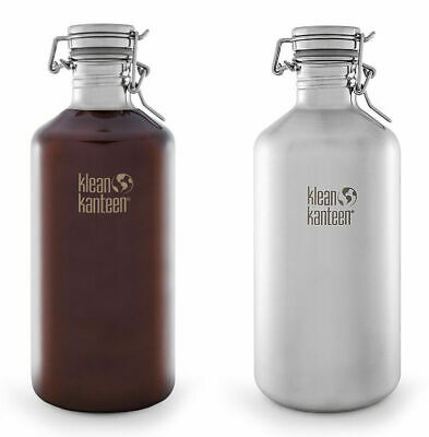 KLEAN KANTEEN CLASSIC GROWLER 64oz 1900ml BPA FREE SWIG LOK CAP WATER BOTTLE