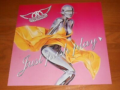 Aerosmith Just Push Play Poster 2-Sided Flat Square 2001 Promo 12x12