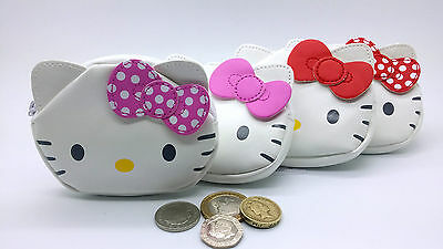 Hello Kitty Wallet Coin Purse Ideal With Bow Good For SCHOOL TRAVEL 4 Designs