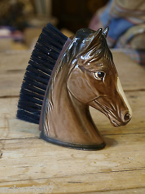 Vintage Novelty Horse's Head Ceramic Clothes/Hat Brush