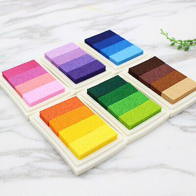 Rubber Stamps Craft  Ink Pad Gradient Multicolour Pads Colours Card Making