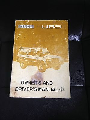 Isuzu Ubs Owners Manual