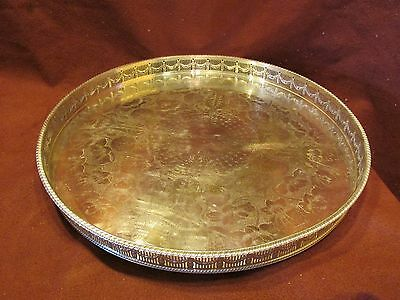 Sheffeild English Silverplate Gallery Tray Antique Style