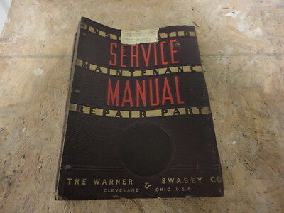 Warner Swasey 3A Turret Lathe Service Manual Operator Maintenance parts