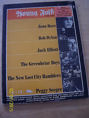 YOUNG FOLK SONGBOOK 1963 2nd printing BOB DYLAN JOAN BAEZ intro by Pete Seeger