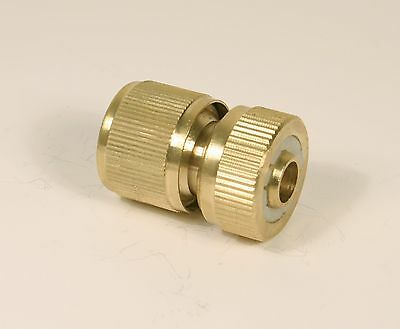 Brass 1/2 Hose Connector With Auto Stop With Female Hose Lock Type Connection