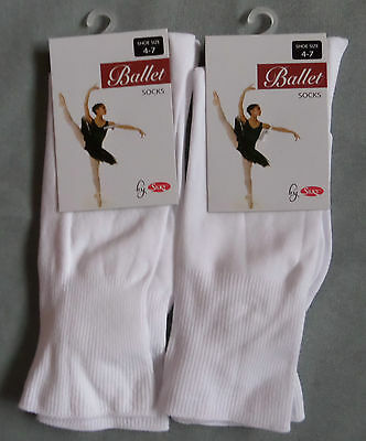 2 pairs of ladies ballet dance socks by silky size 4-7 black white or pink