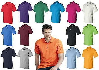 School Uniform Polo T-shirt Gildan 8800 Dryblend Jersey Men's Polo shirt