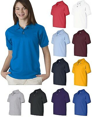 School Uniform Polo Youth T-shirt Gildan 8800B Dryblend Jersey Polo shirt