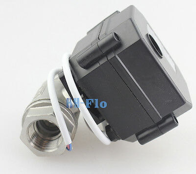 "New 2 Way 1/2"" SS304 FBSP Motorized Ball Valve,DC12V Electrical Ball Valve"