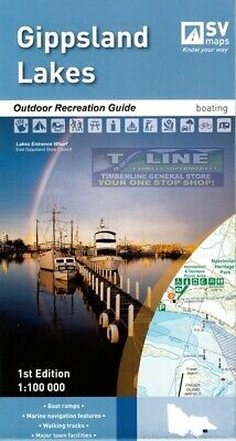 SV Maps Gippsland Lakes Outdoor Recreation Guide Boating 1st Ed