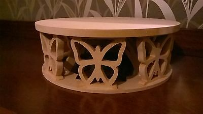 Circular cake stand with butterfly decoration, MDF-craft, -Wedding Party display
