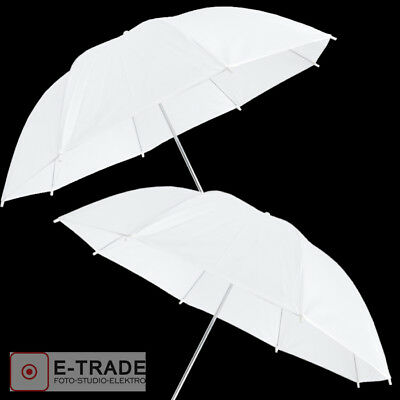 110cm White Photo Studio UMBRELLA - diffuser - 2 PIECES -