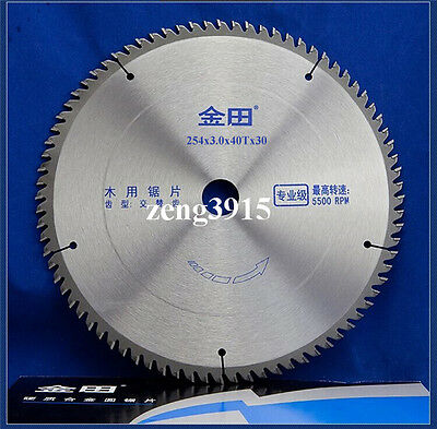 """10"""" inches Professional TCT Wood Circular Saw Blade 254 x 40T x 30 mm Bore"""