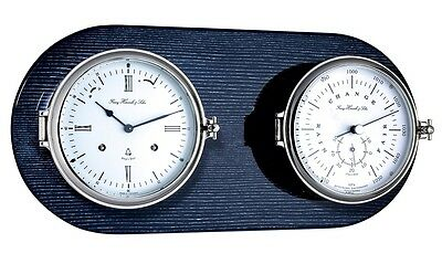 Ships Bell Clock Barometer Thermometer Set