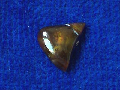 NATURAL FIRE AGATE WEDGE CABOCHON -- 13 mm x 12 mm x 14 mm