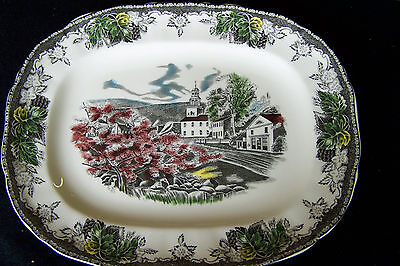 Johnson Brothers Rectangular Platter Village Square New Free Shipping