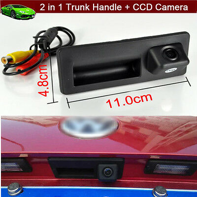 2 in 1 Car Trunk Handle CCD Rear View Parking Camera For VW Jetta 2011-2016 2017