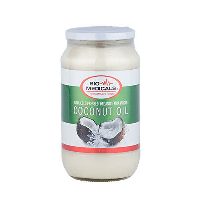 Extra Virgin Coconut Oil 1 Litre, 100% Certfied Organic Raw & Cold Pressed