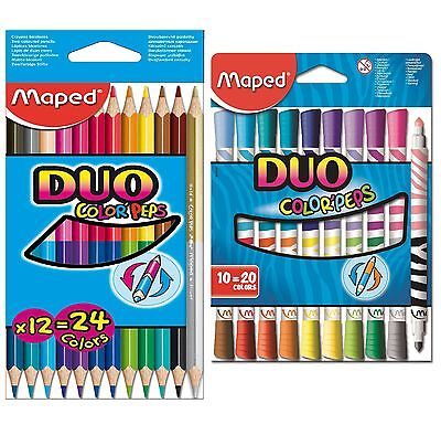 Maped Colour Peps Duo Packs School Office Stationery Arts and Crafts Accessories
