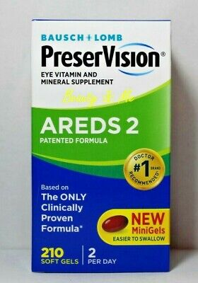 Bausch + Lomb PreserVision AREDS 2 Formula 210 Softgels *Eye Vitamin & Mineral*