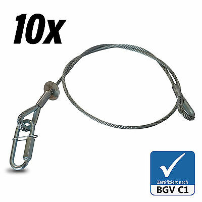 10x Fangseil Safety BGV-C1 100cm x5mm Sicherungsseil Made in Germany Typenschild