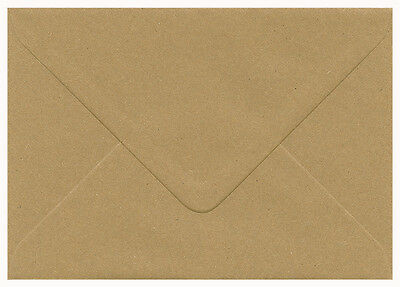 "100% Recycled Brown Flecked Kraft Paper Envelopes C6 114mm x 162mm 4.5"" x 6.4"""