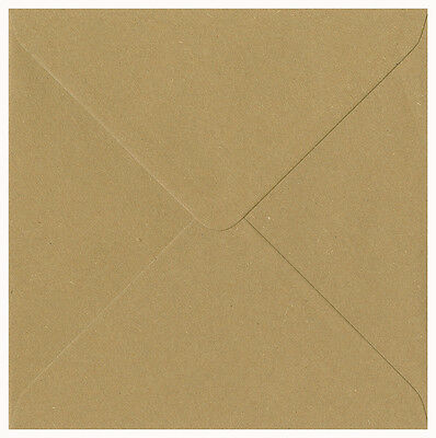 "100% Recycled Brown Fleck Kraft Paper Envelopes 155mm x 155mm 6.1"" x 6.1"" Square"