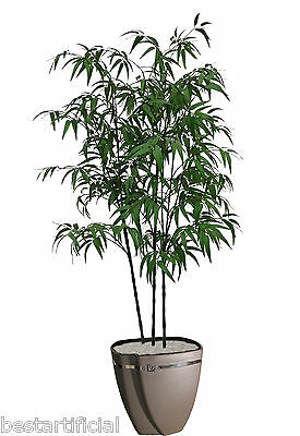 Best Artificial 180cm 6ft Black Bamboo Plant Tree Tropical Office Conservatory