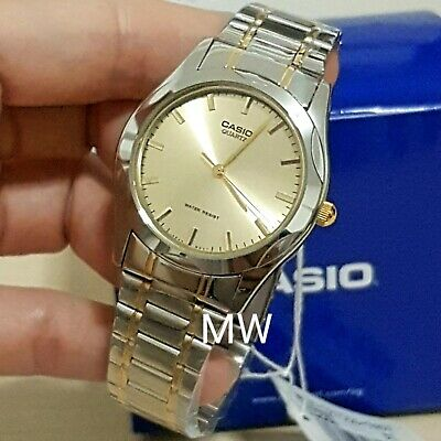 MTP-1275SG-9A Two Tone Gold Casio Men's Watch Stainless Steel Analog Brand New