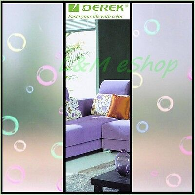 High Quality Privacy Decorative Design Sticker Frosted Glass Window Film #56