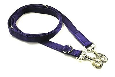 8ft, 11ft Police Dog Style Training Obedience Lead 25mm Cushion Webbing Purple