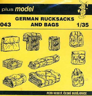 Plus model - 10 Deutsche Rucksäcke German Rucksacks and Bags 1:35 Modell-Bausatz