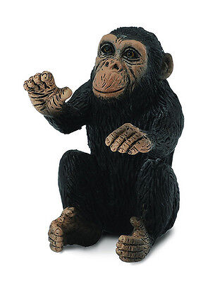 CollectA 88494 Chimpanzee Infant Hugging - Realistic Figurine Model Toy - NIP
