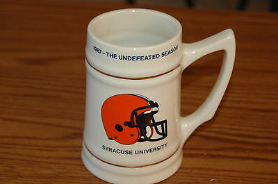 Collectible Syracuse University Undefeated Football Mug - Glass! - FREE SHIPPING