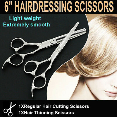 6'' Hair Cutting Thinning Scissors Professional Barber Shears Salon Set AU STOCK