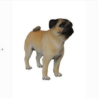 PUG DOG Life Size Resin Statue Prop Display