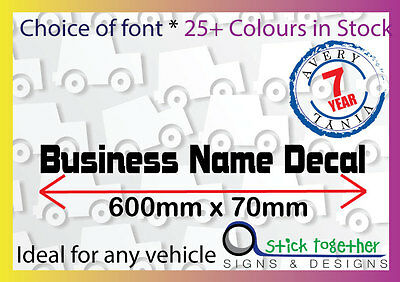 Windscreen Business Name - 600x75mm Car Sticker / Decal Custom letters lettering