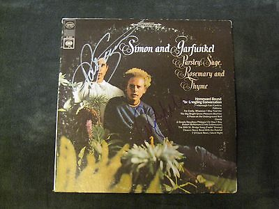 Paul Simon Art Garfunkel Autographed Parsley, Sage, Rosemary, Thyme Vinyl LP