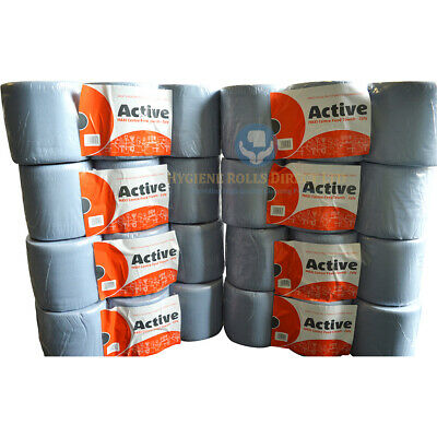 48 rolls SIRIUS Blue Rolls 2 PLY Centrefeed Paper Wiper Roll Towels (8 Packs)85m