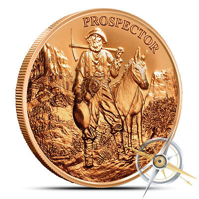 AVDP 1 oz .999 Copper Round Provident Prospector by Provident Metals