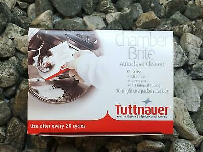 Tuttnauer Chamber Brite Powder Autoclave Cleaner,1 Box/10 Packets Exp:2019-12