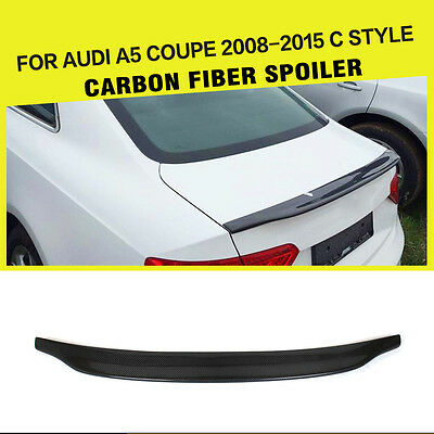 Carbon Fiber Rear Trunk Boot Lip Wing Spoiler Kit for Audi A5 Coupe 2 Door 08-15
