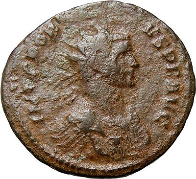 Probus AE Antoninianus Fides Wreath Authentic Ancient Roman Coin Rare Gorgoneion