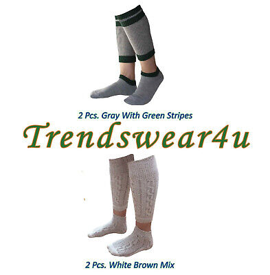 German Bavarian Trachten Oktoberfest Lederhosen 2 Pairs Of 2 Pcs Socks All Sizes