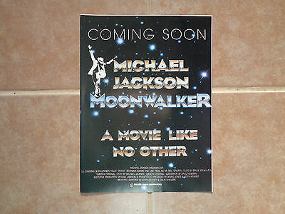 Michael Jackson Moonwalker ad_MAGAZINE CLIPPINGS_ships from AUS!_13h