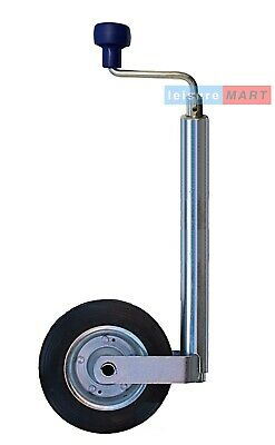 48mm Trailer or Caravan  jockey wheel, Standard duty with clamp and steel wheel