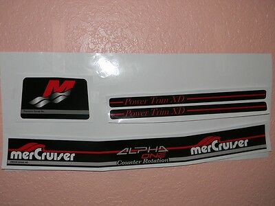 Mercruiser Alpha One  Counter Rotation Gen Ii Outdrive Decal Set With Red Trims