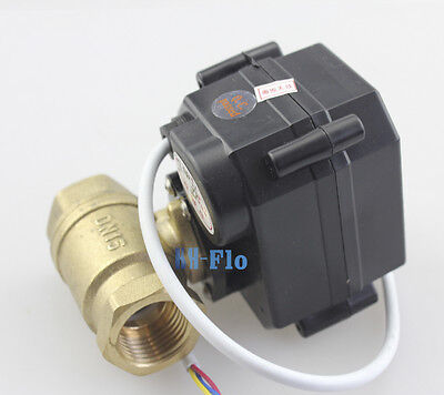 "HSH-Flo 2 Way 1/2"" to 1"" Brass Motorized Ball Valve,DC5V/12V Electrical Valve"
