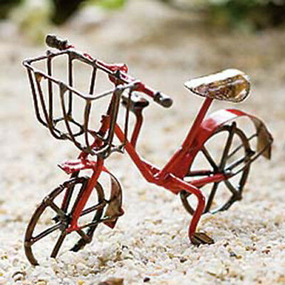 Miniature Dollhouse FAIRY GARDEN ~ Bicycle Red ~ NEW